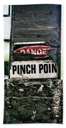 Danger Pinch Point Beach Towel