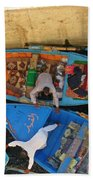 Dangerous Manouvers At The Nile River Canal Locks Beach Towel