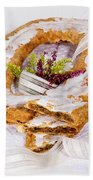 Danish Pastry Ring With Pecan Filling Beach Towel
