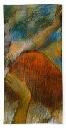 Danseuse A L'eventail Beach Towel by Edgar Degas