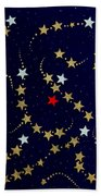 Dare To Be Different - Stars - Blazing Trails Beach Sheet