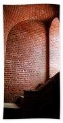 Dark Brick Passageway Beach Towel by Frank Romeo