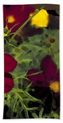 Dark Coreopsis' Beach Towel