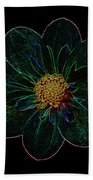 Dark Flower 2 Beach Towel