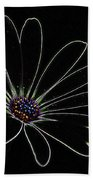 Dark Flower Beach Towel