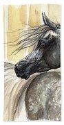Dark Grey Arabian Horse 2014 02 17 Beach Towel