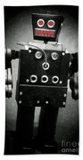 Dark Metal Robot Oil Beach Towel
