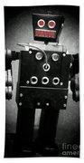 Dark Metal Robot Oil Beach Sheet