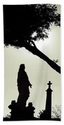 Dark Mysterious Light Beach Towel