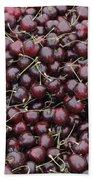 Dark Red Cherries For Sale Beach Towel