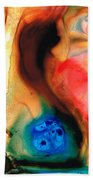 Dark Swan - Abstract Art By Sharon Cummings Beach Sheet