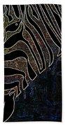 Dark Zebra Beach Towel
