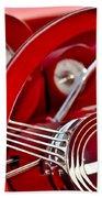 Dashboard Red Classic Car Beach Towel