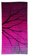 Dave Matthews Band Crush Lyric Art - Pink Beach Towel