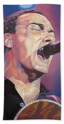 Dave Matthews Colorful Full Band Series Beach Towel by Joshua Morton