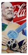 Dave Matthews Seek Up Beach Towel by Joshua Morton