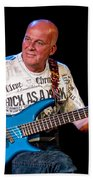 Dave Pegg Bass Player For Fairport Convention And Jethro Tull Beach Towel