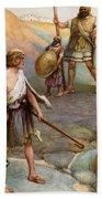 David And Goliath Beach Towel by Arthur A Dixon