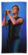 David Bowie 2 Painting Beach Sheet