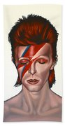 David Bowie Aladdin Sane Beach Towel by Paul Meijering