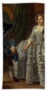 David Garrick And Mrs. Pritchard In Benjamin Hoadley's The Suspicious Husband  Beach Towel