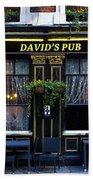 David's Pub Beach Towel