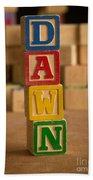 Dawn - Alphabet Blocks Beach Towel