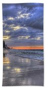 Dawn At The Cottages Of Romar Beach Towel