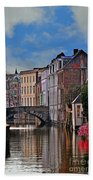 Dawn In Bruges Beach Towel