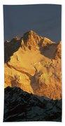 Dawn On Kangchenjunga Talung Face Beach Towel