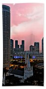 Dawn Over Singapore Beach Towel