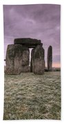 Dawn Over The Stones  Beach Towel