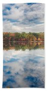 Dawn Reflection Of Fall Colors Beach Towel