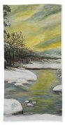 Dawning Of A Winter Day Beach Towel