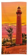 Dawn's Light At Little Sable Beach Towel