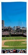 Day Game At Wrigley Field Beach Towel