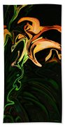 Day Lily At Night Beach Towel