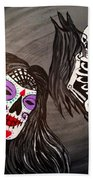 Day Of The Dead Good Vs Evil Beach Towel