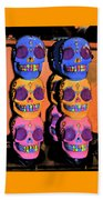 Day Of The Dead Ink Beach Towel