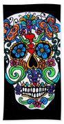 Day Of The Dead Skull Beach Towel