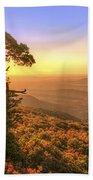 Daybreak On Mt. Magazine - Arkansas - Cedar Tree - Autumn Beach Towel