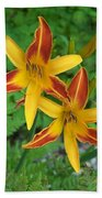 Frans Hall Daylily Attention Getter Beach Towel