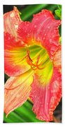 Daylily Beach Towel