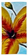 Daylily Expressive  Brushstrokes Beach Towel