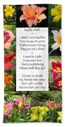 Daylily Math Beach Towel