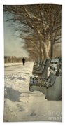 Days Of Cold Chills Beach Towel