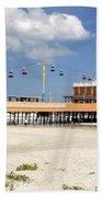 Daytona Beach Pier Pano Beach Towel