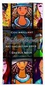 Dazzle Neck Art Collection Beach Towel
