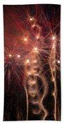 Dazzling Fireworks Beach Towel