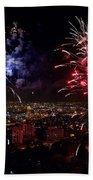Dazzling Fireworks II Beach Towel by Ray Warren